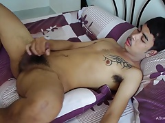 Asian Twink Kai Jacks Off