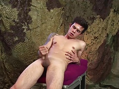 Hung Patrik Green Strokes His Cock