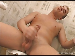 Four Twinks Jacking Off