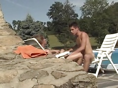 Gay Love Poolside