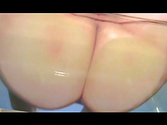 rubbing my big fat ass on a glass table