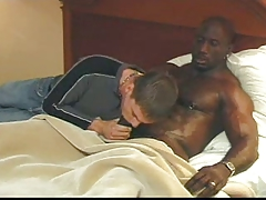 Black top gets sucked by white twink