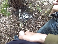 pissing together with my friend behind a tree COMPILATION