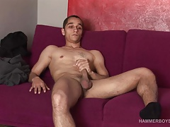 Hung Gregory Wall Strokes His Big Dick