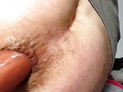 Twink playing. Deep anal with squarepeg long worm