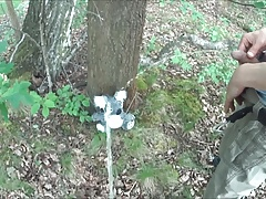 two friends pissing on a teddy in the woods COMPILATION
