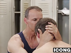 Daddy Rodney gives Kory a hardcore lesson in the locker room