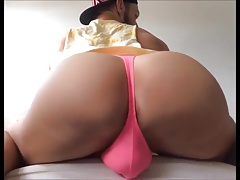 Big Sexy Ass in Pink Thong