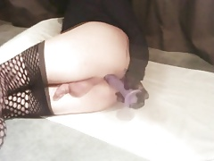 Femboy Sissy Playing with Dildo