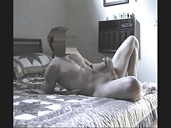Jerking off on my neighbour's bed