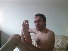 Foot Fetish - Naked Jerk Off and Cum
