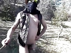 Naked And Wanking In The Wood
