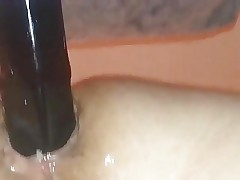 Shemale mis cee Impaled on a BBC Dildo