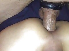 Latino bttm parTied up and taking raw dick