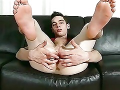 Big Cock Twink Fingers His Hole