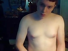 Cute Boy With Nice Boobs And Hot Smooth Ass On Cam