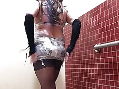 series 2 sissy victoria secret white garter slip part1
