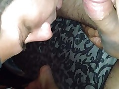 Straight married guy gets small dick sucked by dude