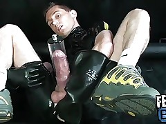 Nice Rubber Sneaker Boy into Dick Pumping