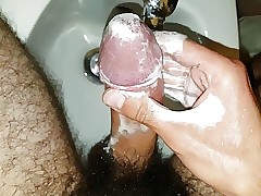 Edging while washing with soap after milovana tease
