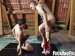 Horny Mickey Rush and Oscar Hart get naughty and fuck hard