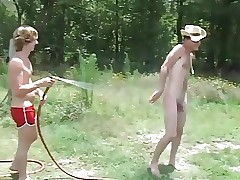 Two Country Boys Wrestle Naked Then Blow Each Other