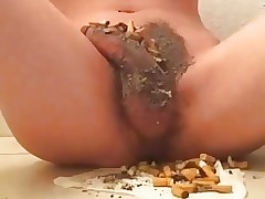 trash boy with cock ashtray