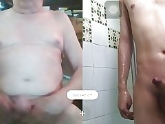 Asian Chinese twink (ming) Skyping with daddy Richard