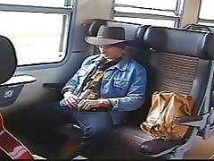 Blowjob on a train