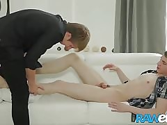 RAWEURO Deep Bareback Fuck Session With Two Sexy Twinks