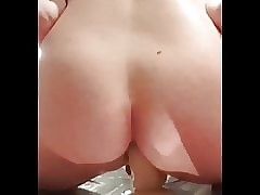 Riding dildo till cumshot