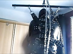 Hanging Leather Gimp Bondage