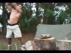 Camping dude shows how to fuck