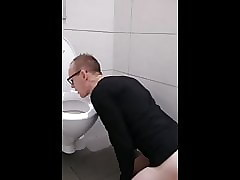 Fag4doms Fag licking Toilet