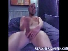 Young punk guy jerking off and eating his cum...