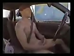 Driving a car & wanking