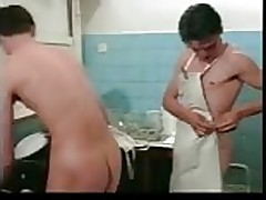 Kitchen anal boys