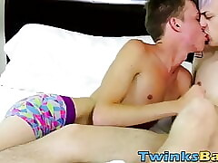 Wet blowjobs plus bareback time with sweet exotic twink men