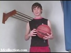 Basketball teen boy