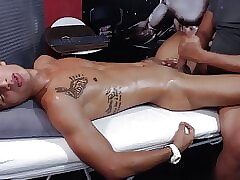 hot athletic stud Lucas gets a massage and cum