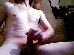 Amateur Awesome Body Jerking Cock and Cumming Show