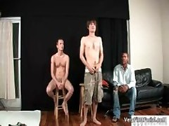 Cute twinkie Davis Rodds blowing tube gay boys