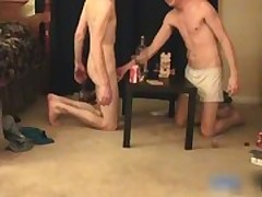 Super hot gay teens having a game party gay porno