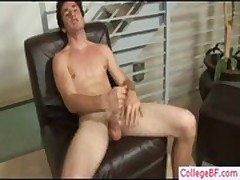 Super hot college dude jerking his dick gay porn