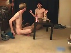 Three super pretty twinks having a games gay boys