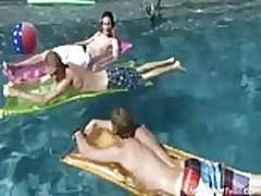 Summer pool boys fun