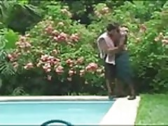 Brazilian pool threesome 1
