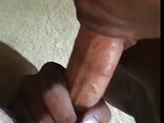 Black Twink Cums From Sucking Verbal White