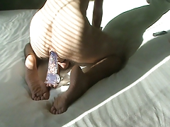 anal fucking young boy with huge dildo riding his ass