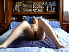 Young guy using aneros type dildo